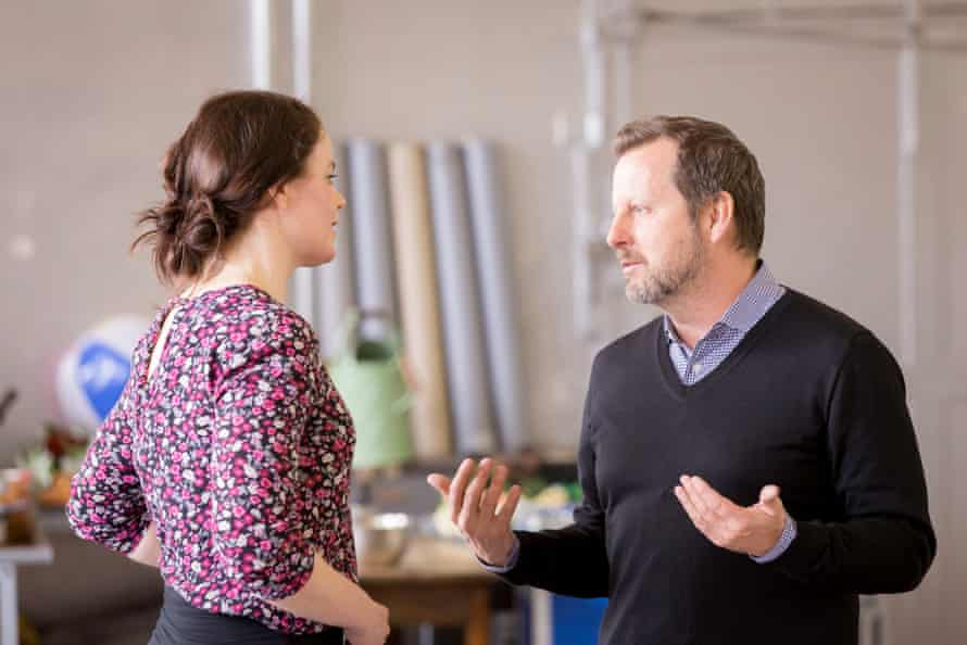 Rehearsals for A Damsel in Distress, with director Rob Ashford, right.