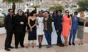 13 May 2015, Cannes, France, France --- International Jury Photocall at 68th Cannes Film Festival at the Palais du Festival in Cannes, France. Pictured: Jake Gyllenhaal, Guillermo Del Toro, Sophie Marceau, Rokia Traore, Ethan Cohen, Joel Coen, Rossy De Palma, Xavier Dolan and Sienna Miller --- Image by   Matt Winter/Splash News/Corbis.