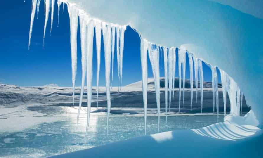 Antarctic icicles, Snow Hill Island, Weddell Sea, Antarctica