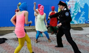 Pussy Riot protesting in Sochi