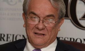 Tony de Brum, the minister-in-assistance to the president of the Marshall Islands, speaks at the Foreign Correspondents Association in Sydney