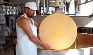 A cheese wheel of comté