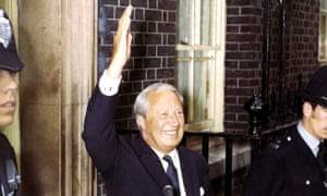 Edward Heath after his election victory in 1970.