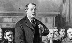 Lord Rosebery speaking at the Foreign Office, c1900.