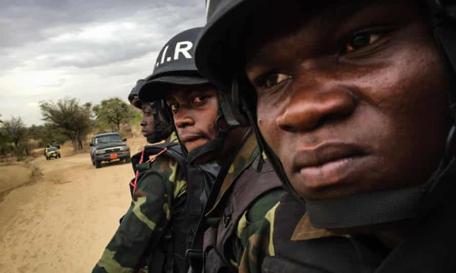 Elite soldiers from Cameroon's Rapid Reaction Force.