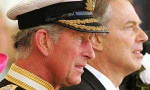 The Prince of Wales with prime minister Tony Blair.