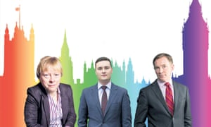 Angela Eagle, Wes Streeting and Chris Bryant