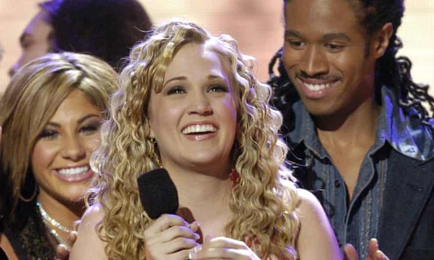 Carrie Underwood beams after being declared the winner of American Idol.