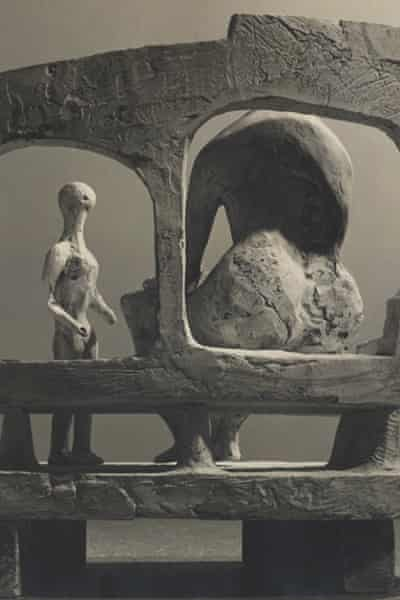 Mother and Child against Open Wall (plaster maquette for Unesco commission)