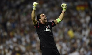 Gianluigi Buffon celebrates.