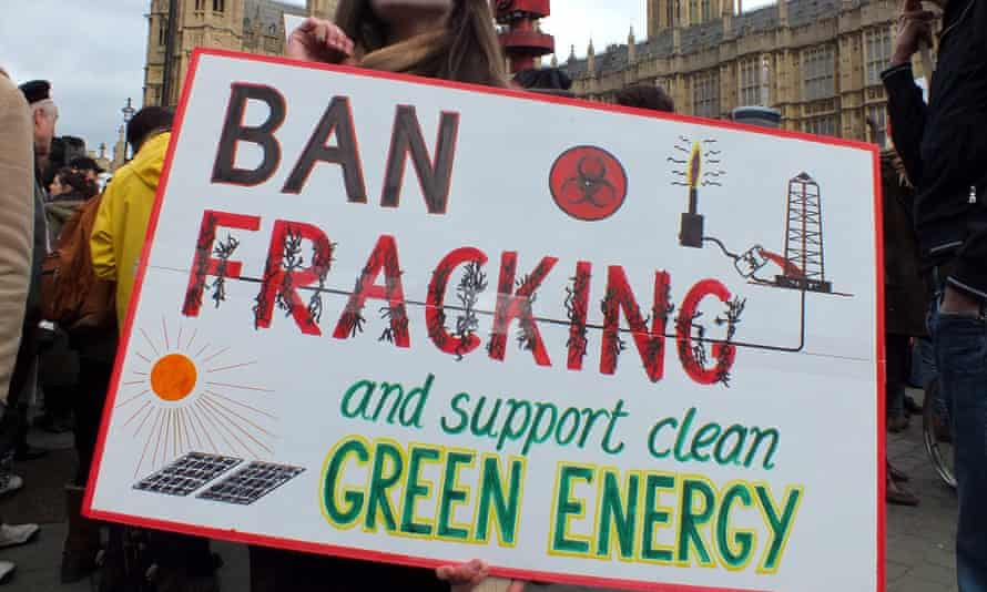 fracking green energy protest