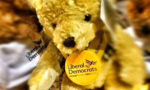 Liberal Democrats merchandise for sale at the party's autumn conference 2014 in Glasgow, Scotland.