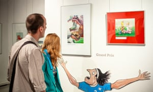Satirical prints by Polish artist Krzysztof Grzondziel at The Museum of Caricature.