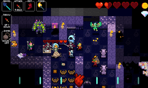 Crypt of the Necromancer looks like a traditional roguelike but enemy encounters are won on rhythm as well as might.
