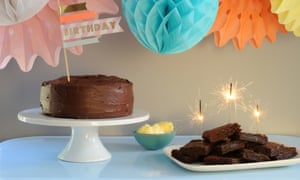 An easy birthday cake and squidgy chocolate brownies made easier with cocoa powder.