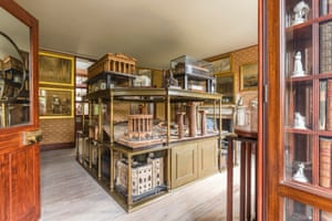 A view of the Model Room, recreating a watercolour of the room by C J Richardson