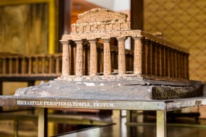 The model Temple of Athena (the so-called Temple of Ceres), Paestum.