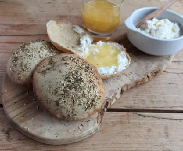 Fadime's flatbread rolls with ricotta and honey: a perfect start to a day playing in the fields...