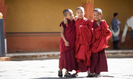 Young Buddhist monks in Bhutan