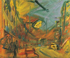 Mornington Crescent-Early Morning 1992-93 by Frank Auerbach