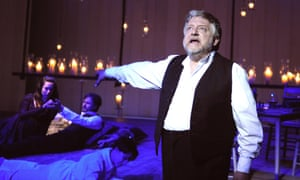 Simon Russell Beale (Leontes) in The Winter's Tale at the Old Vic in 2009.