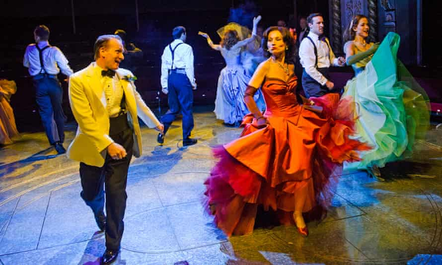 High Society: Jamie Parker as Mike Connor and Kate Fleetwood as Tracy Lord live it up at the Old Vic.