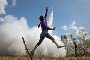 The rockets are believed to encourage the coming of the rains at the start of the planting season
