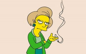 Edna Krabapple, voiced by the late Marcia Wallace