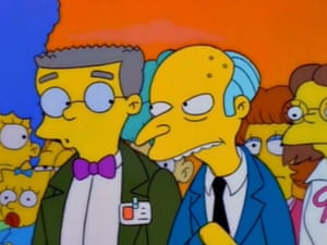 Burns and Smithers, both played by Harry Shearer