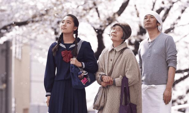 Kirin Kiki, Masatoshi Nagase and Kyara Uchida in An.