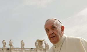 Pope Francis arrives to lead the weekly audience in Saint Peter's Square at the Vatican May 6, 2015.