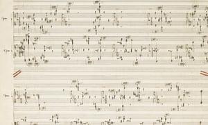 Boulez sotheby's score