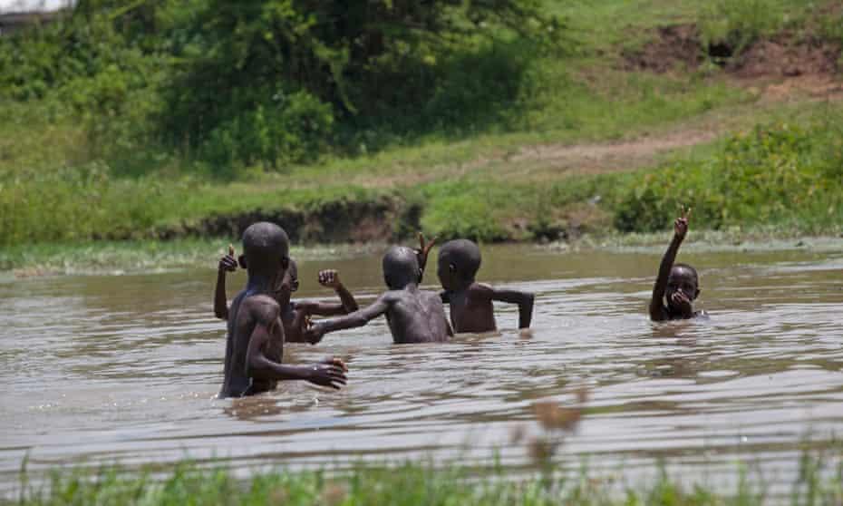 Children playing in Kisumu, Kenya