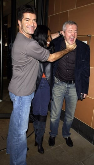 Simon Cowell (in his dad jeans) with Sinitta and Louis Walsh in 2005.