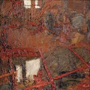 Auerbach's Rebuilding the Empire Cinema, Leicester Square,1962. Courtauld Gallery, London. Courtesy of the Marlborough Fine Art London
