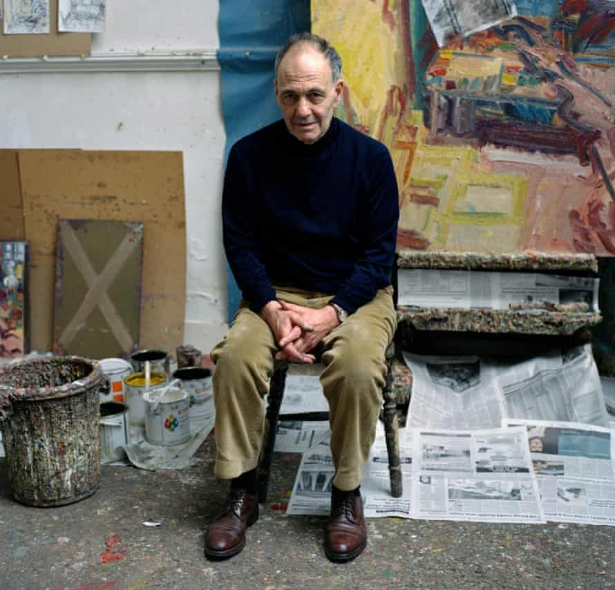 Frank Auerbach in his studio in Camden Town.