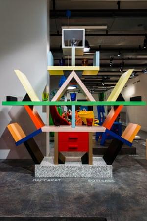Ettore Sottsass's multicolour Carlton room-divider