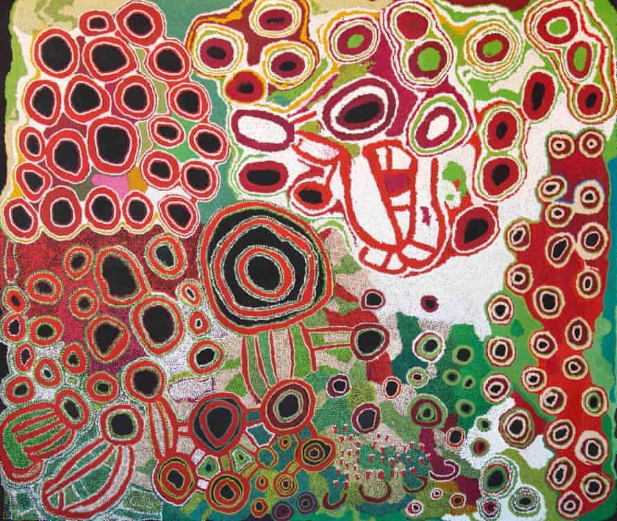 Kungkarangkalpa, 2013, by Kunmanara Hogan, Tjaruwa Woods, Yarangka Thomas, Estelle Hogan, Ngalpingka Simms and Myrtle Pennington.