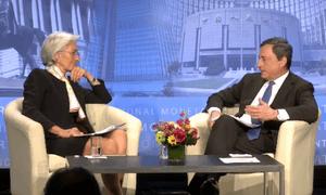 Mario Draghi and Christine Lagarde