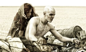 Riley Keough and Nicholas Hoult in Mad Max: Fury Road.