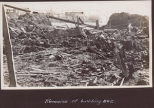 The remains of one of the factory buildings after the explosion.