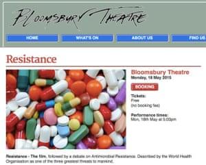 Screenshot of Bloomsbury event