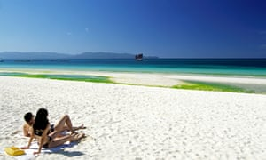 White Beach, Philippines.  A hot spot has been measured in the atmosphere above the tropics.
