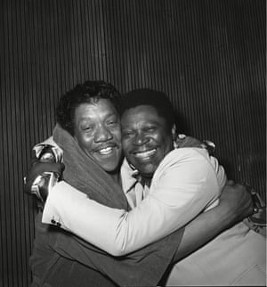 Bobby Blue Bland and BB King at the Coconut Grove, 1976, after recording Bobby Bland and BB King Together Again … Live.