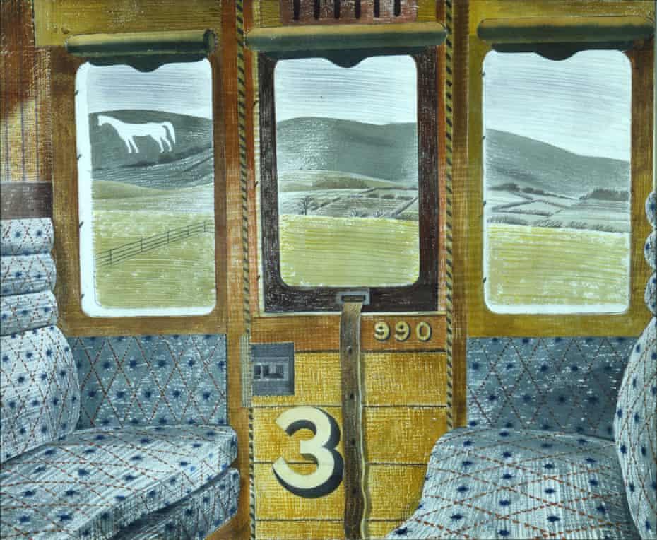 Train Landscape (1940) by Eric Ravilious