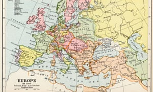 Map of Europe in 1740