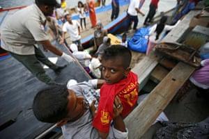 Rohingya migrants,