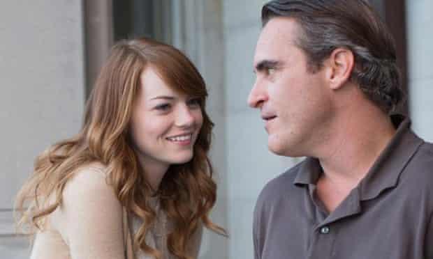 Irrational Man . Emma Stone and Joaquin Phoenix