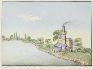 The New River, a Victorian watercolour by Robert Percy Smith