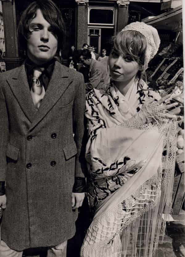 John Pearse and friend in 1966: 'We were peacocks in sharp-as-a-knife tailoring.'